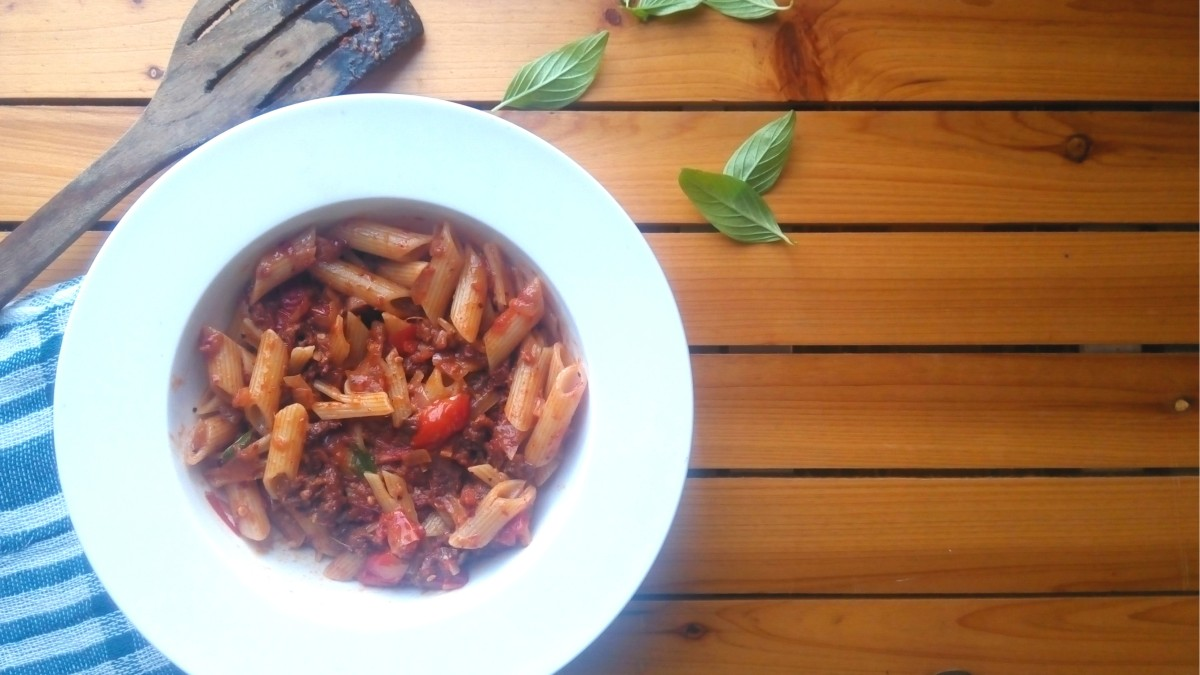 Recipe - Chorizo (Goa sausage) Pasta