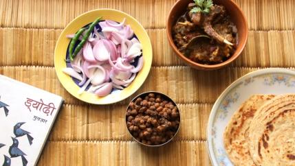 Kale Chane ki Ghugniyan aur Bhuna Mutton - Dyodhi by Gulzar: The Literary Kitchen #2