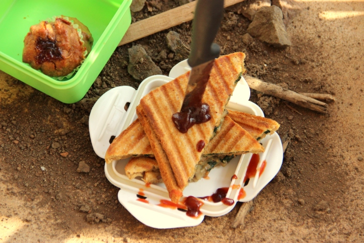 Spinach and Mushroom Sandwich