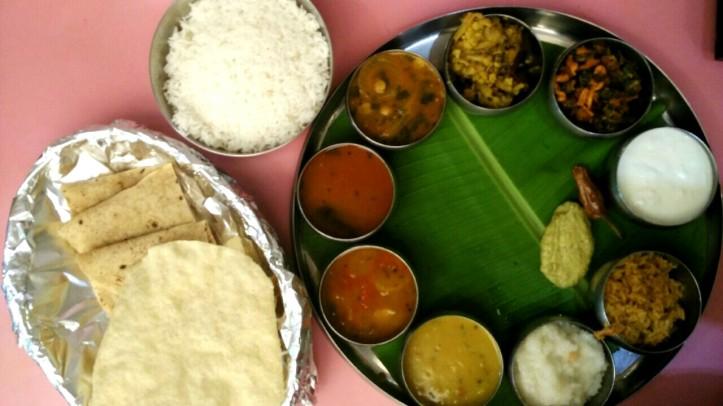 Andhra thali at Gonguura