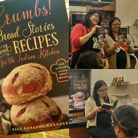 Saee and Rushina at the launch of Crumbs at APB Cook Studio