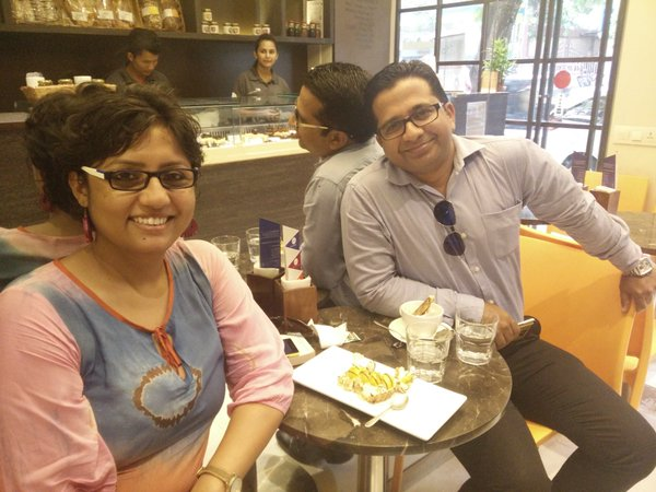 With Chef Anees Khan at Star Anise Patisserie Bandra West
