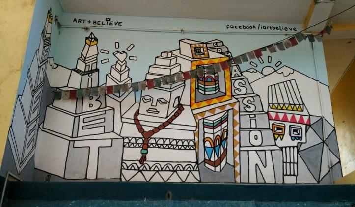 Graffitti on the wall in McLeodganj