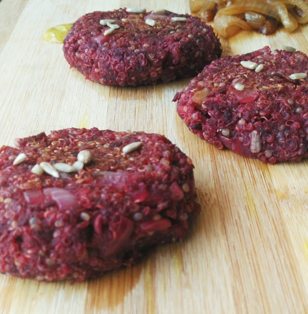 Quinoa and Beetroot Patty