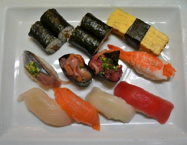 Sushi at Tsukiji Fish Market, Tokyo