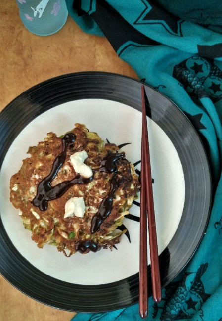 MISO PRAWN OKONOMIYAKI – RICE, NOODLE, FISH: DEEP TRAVELS THROUGH JAPAN'S FOOD CULTURE: THE LITERARY KITCHEN #10