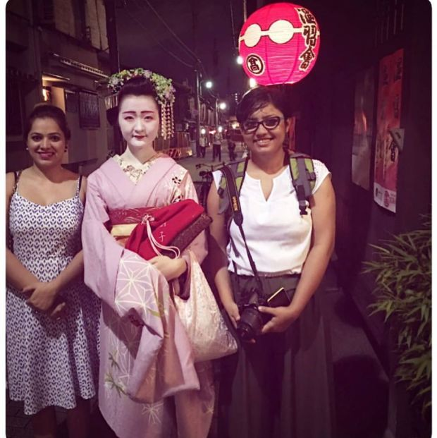 With a Maiko (apprentice Geisha) in Gion, Kyoto