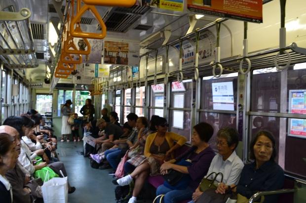 Tram ride to Arashiyama, Kyoto