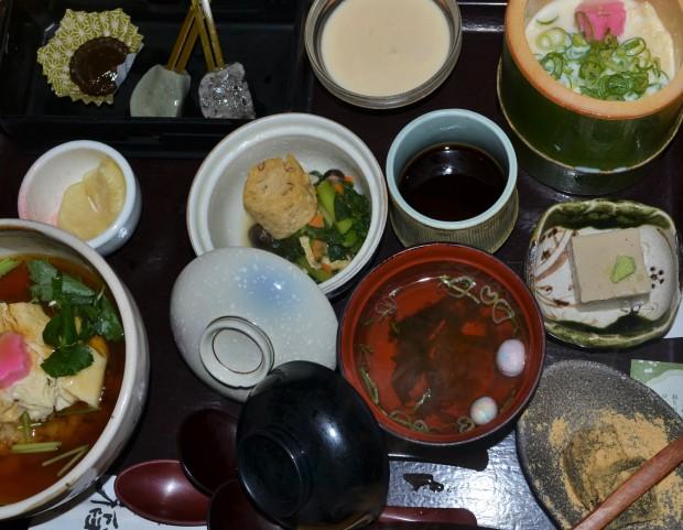 Shojin Ryori (Buddhist Monk's Meal) in Arashiyama, Kyoto