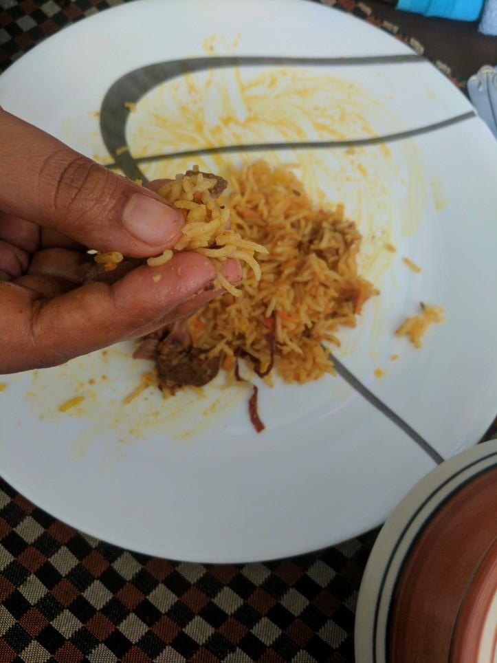 Mutton Biryani at Nafees, Indore