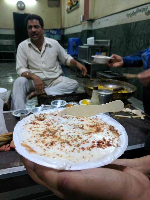 Dahi bade at Joshi Dahi Bada House, Sarafa Market, Indore