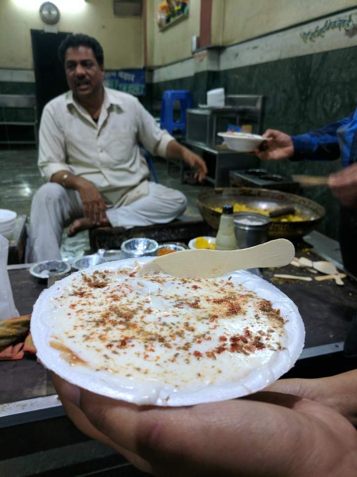 Dahi bade at Joshi Dahi Bada House, Sarafa Market, Indore